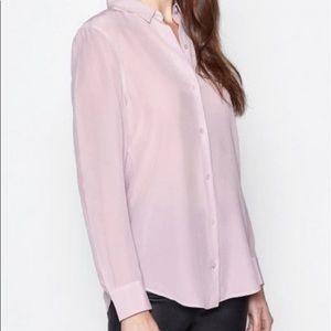Equipment dusty lilac silk button down blouse